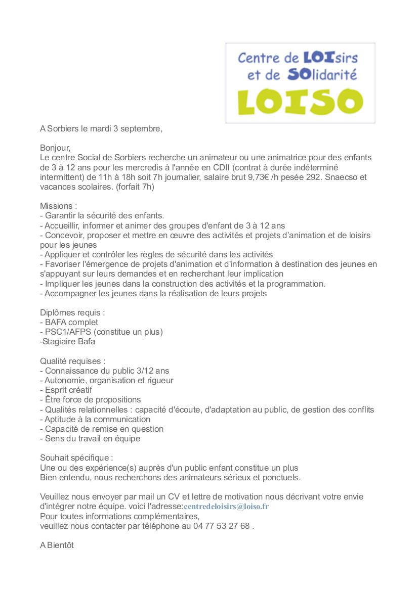 Centre Social Loiso Page 2 Loisirs Et De Solidarité